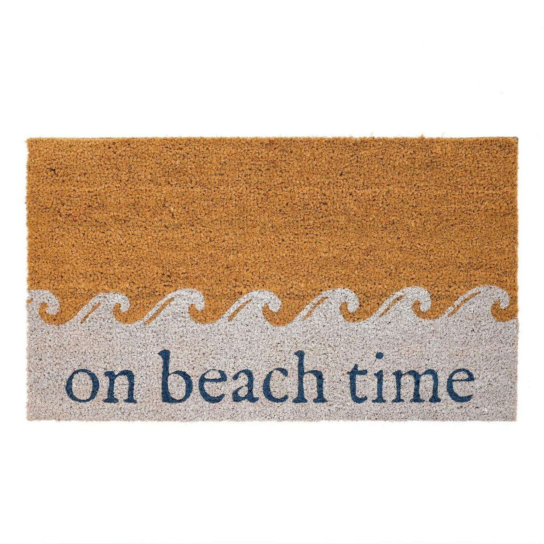 On Beach Time Door Mat