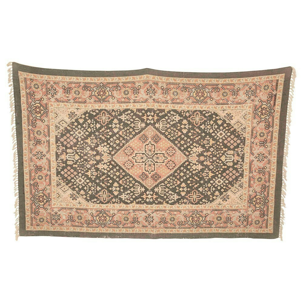 Penny Cotton Printed Rug, 5x8