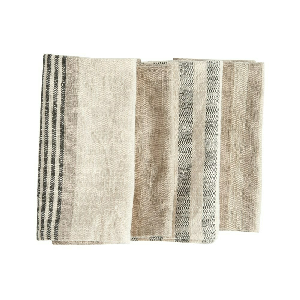 Cotton Striped Napkins, Set Of 4