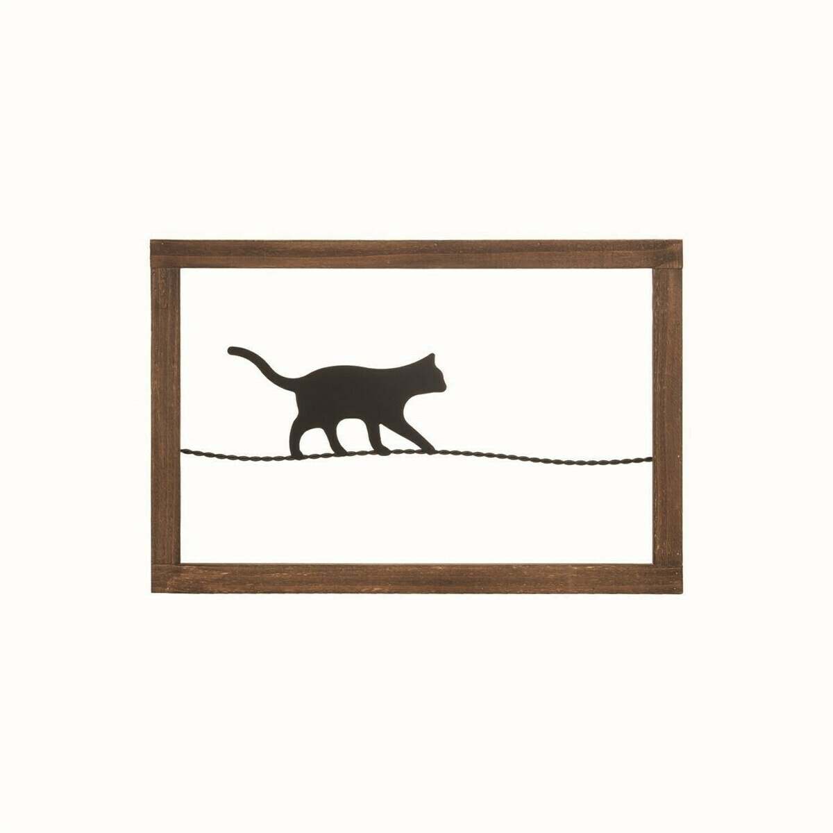Cat On A Wire Wall Art
