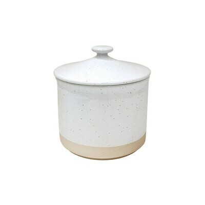 Fattoria Large Canister, White