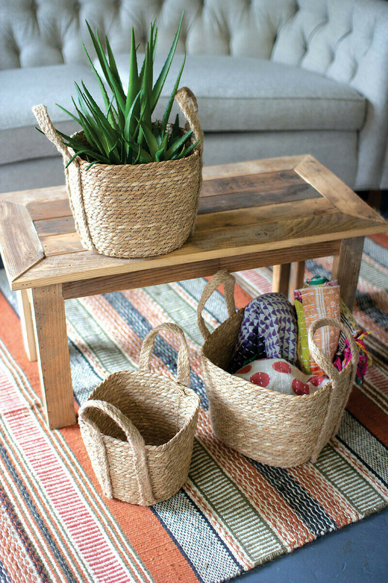 Large Square Seagrass Basket
