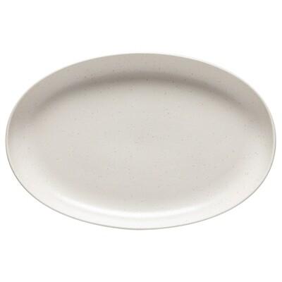 Pacifica Oval Platter, Vanilla