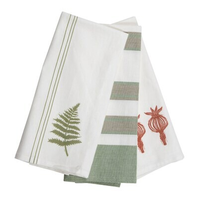Asher Striped Tea Towels, Set Of 3