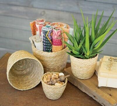 Med Large Round Seagrass Basket