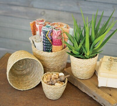 Small Round Seagrass Basket