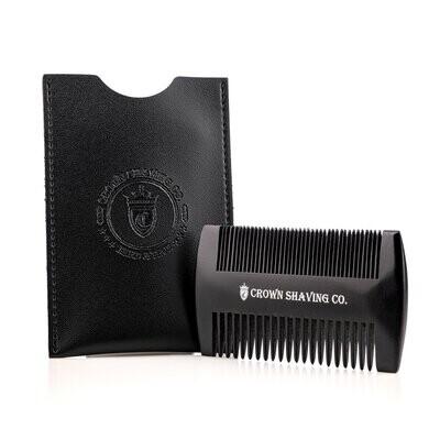Beard Comb, Black W/ Case