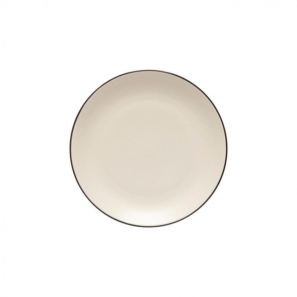 Augusta Salad/Dessert Plate, Nat/Blk
