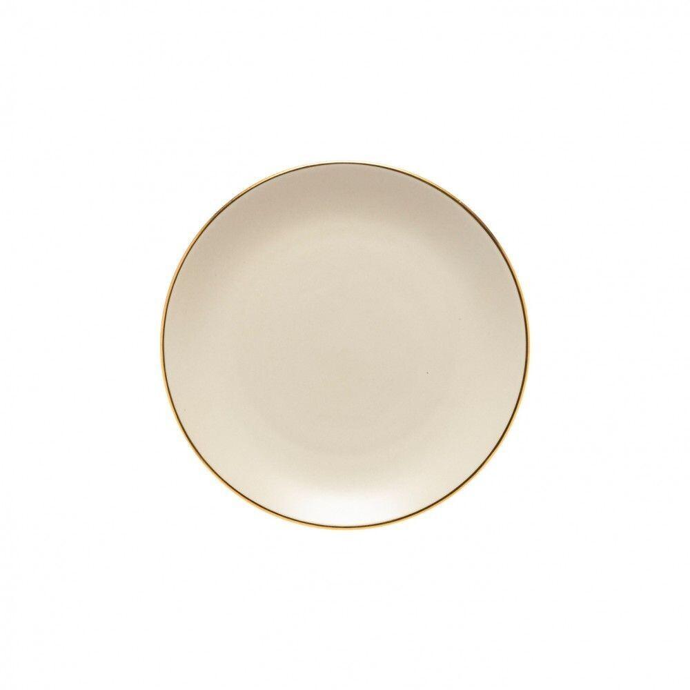 Augusta Salad/Dessert Plate, Nat/Gold