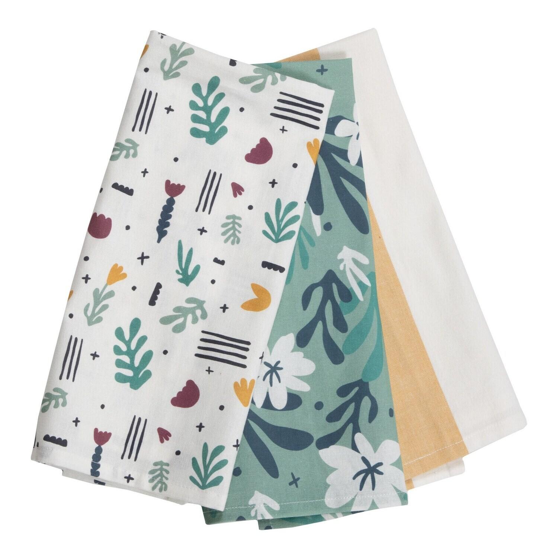 Calla Striped Tea Towels, Set Of 3