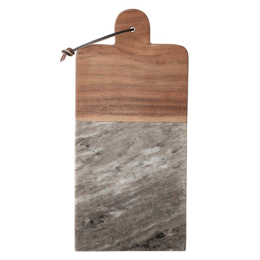 Marble/Acacia Wood Cheese Board & Knife Set