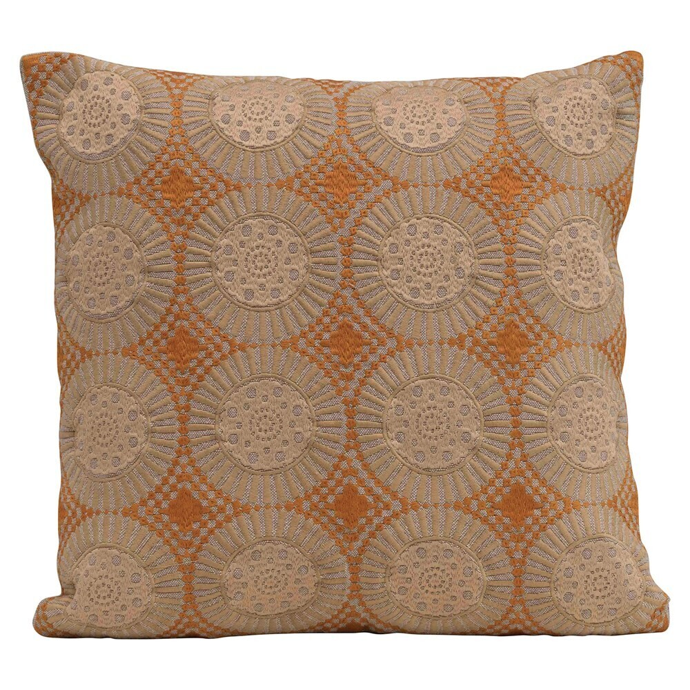 """Marcie Cotton Embroidered Pillow, 18"""""""
