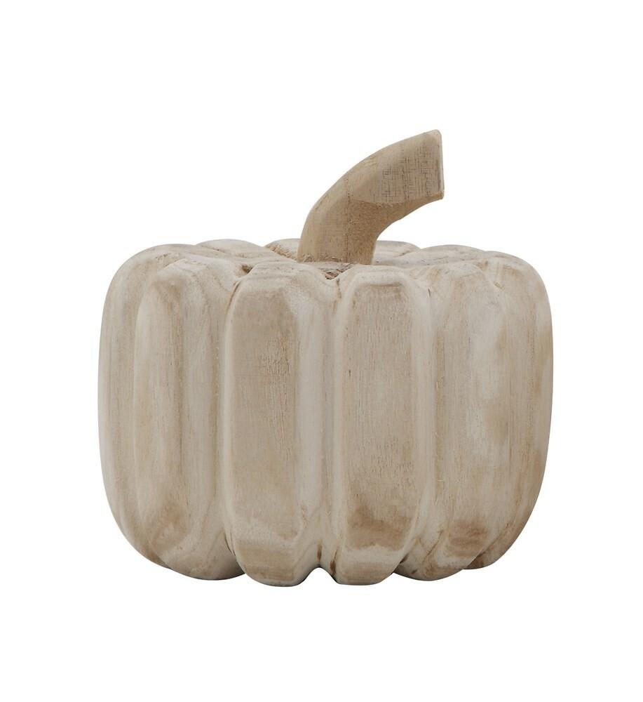 Wood Carved Pumpkin