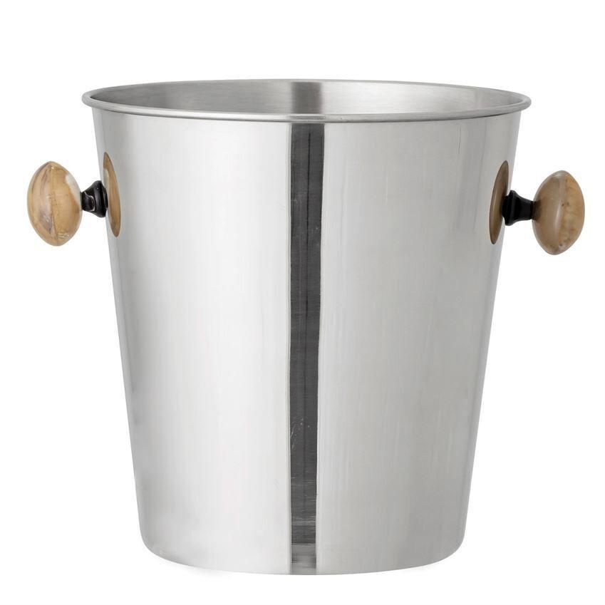 Stainless Ice Bucket W/ Bone Handles