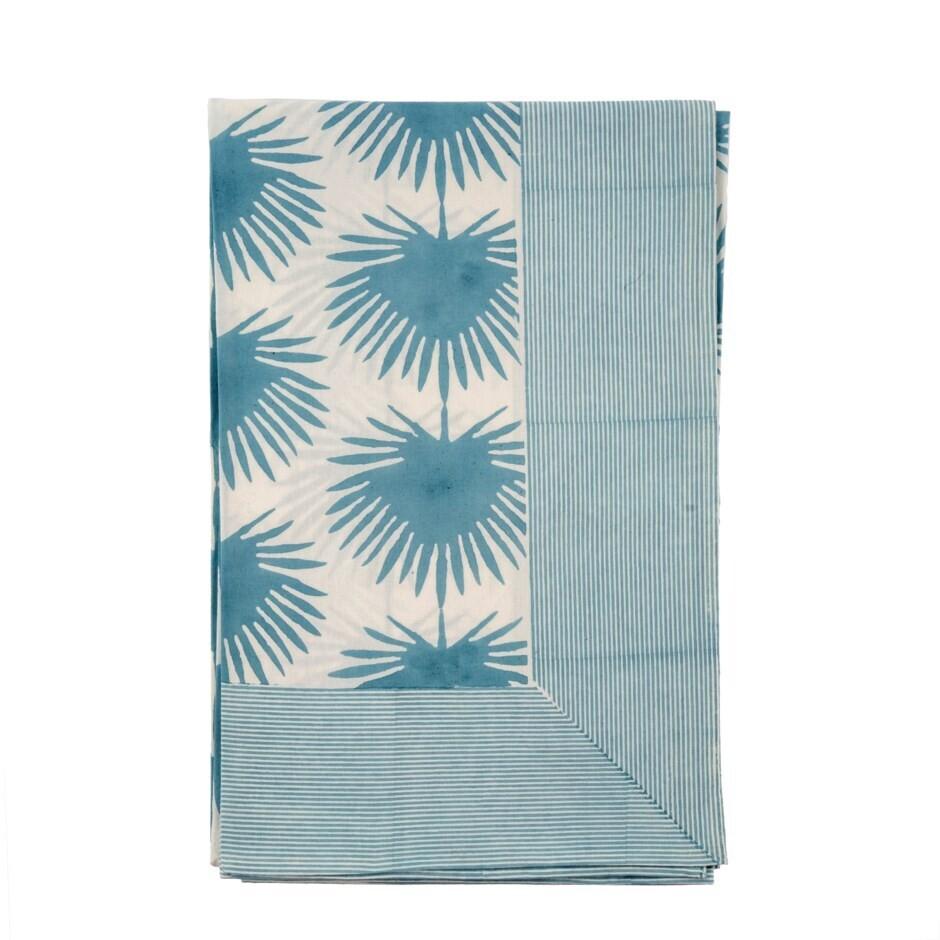 Paradise Palm Tablecloth, Blue