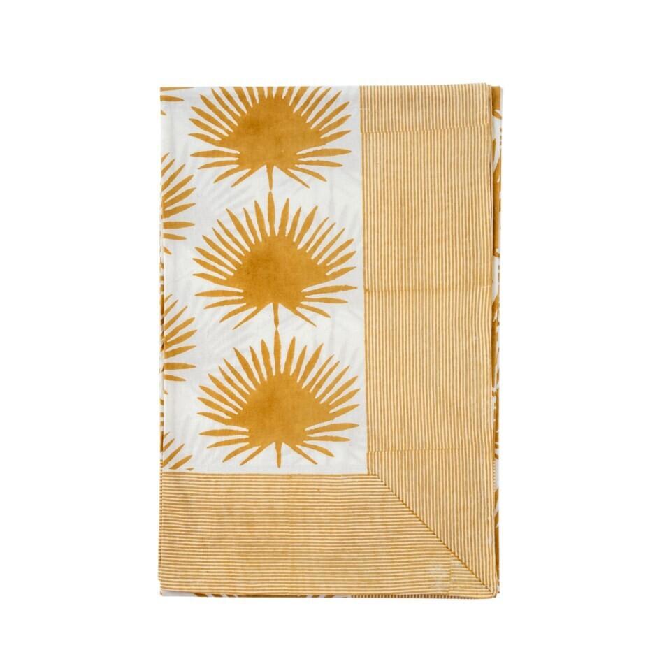 Paradise Palm Tablecloth, Wheat