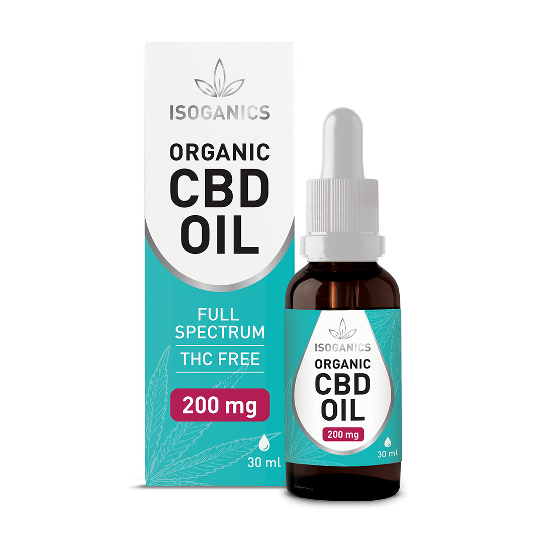 Isoganics Organic CBD Oil 200mg - 30ml