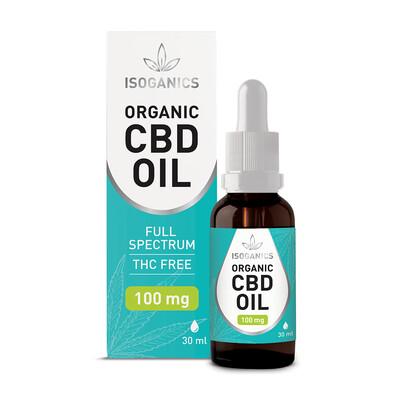 Isoganics Organic CBD Oil 100mg - 30ml