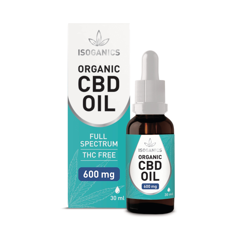 Isoganics Organic CBD Oil 600mg - 30ml