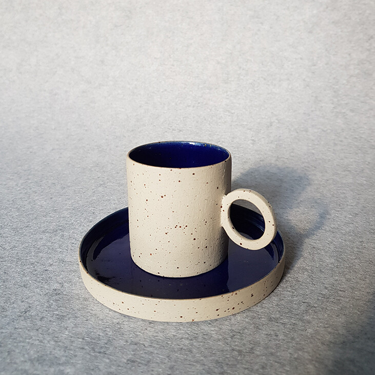 Inside Out Series, Espresso Cups, 85ml Speckled Clay