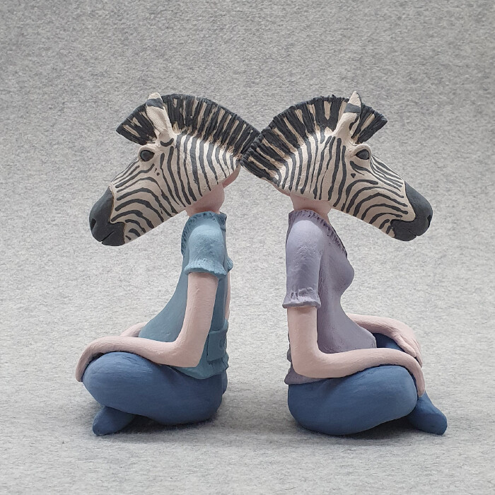 Zebra Head Figurines