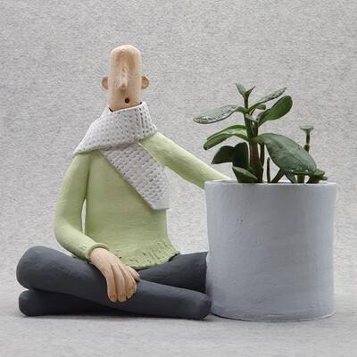 Man Figurative Pot, Planters and Pots