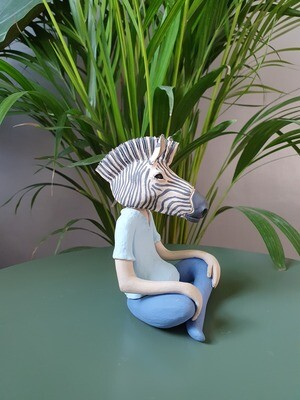 Animal Headed Zebra Sculpture