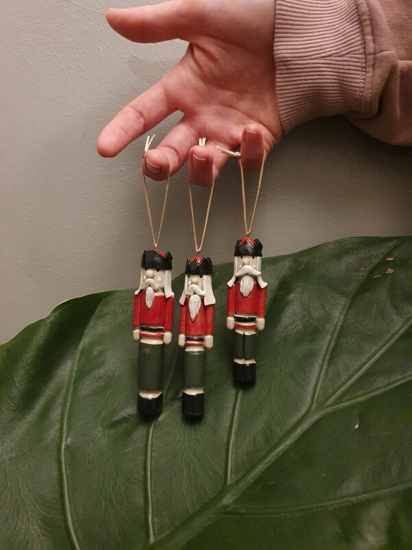 Ceramic Nutcracker Christmas  Tree Decorations