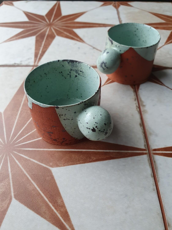 50 ml espresso cup, Ceramic espresso tumbler, Handbuilt coffee cup, House warming gift, Christmas gifts, 2 oz espresso cup