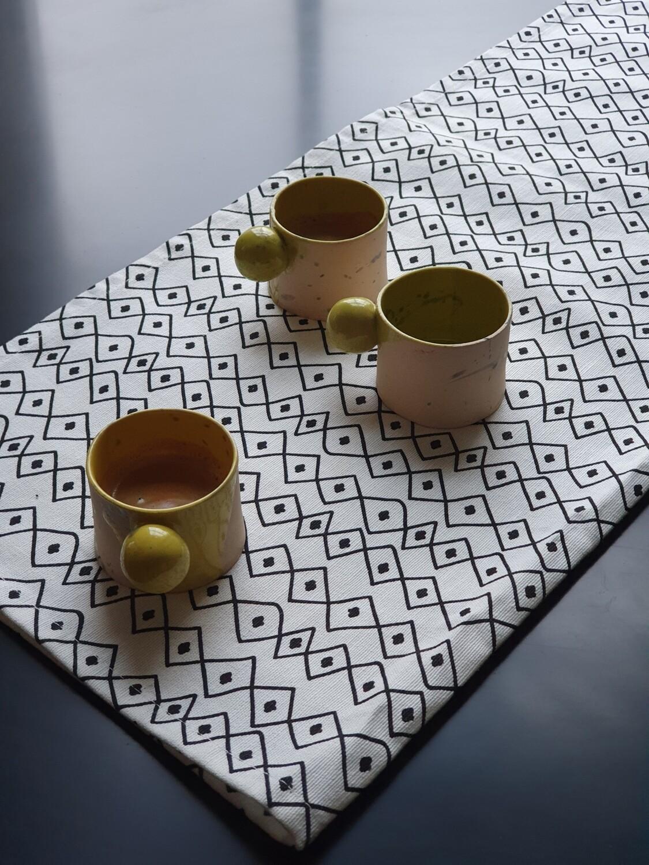50 ml yellow espresso cup, Ceramic espresso tumbler, Handbuilt coffee cup, House warming gift, Coffee lover gift, 2 oz espresso cup
