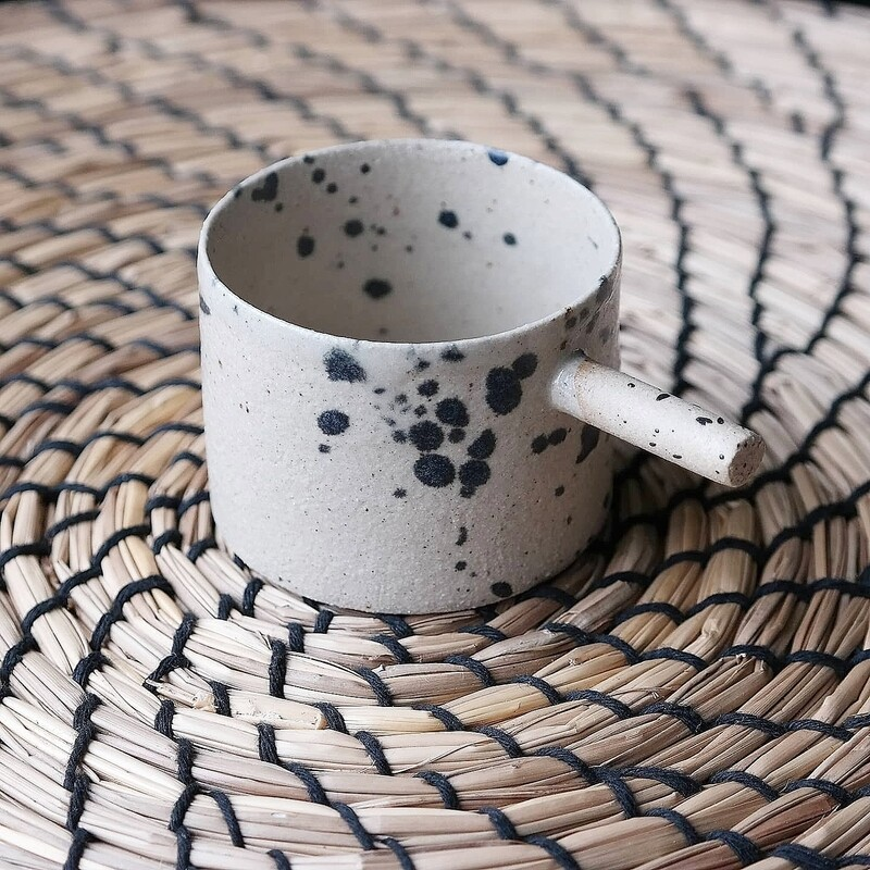 56 ml espresso coffee cup, Espresso tumbler, Handbuilt ceramic espresso mug