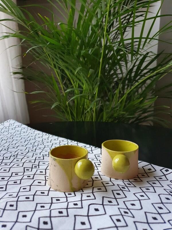 50 ml green espresso cup, Handmade espresso mug, Coffee tumbler