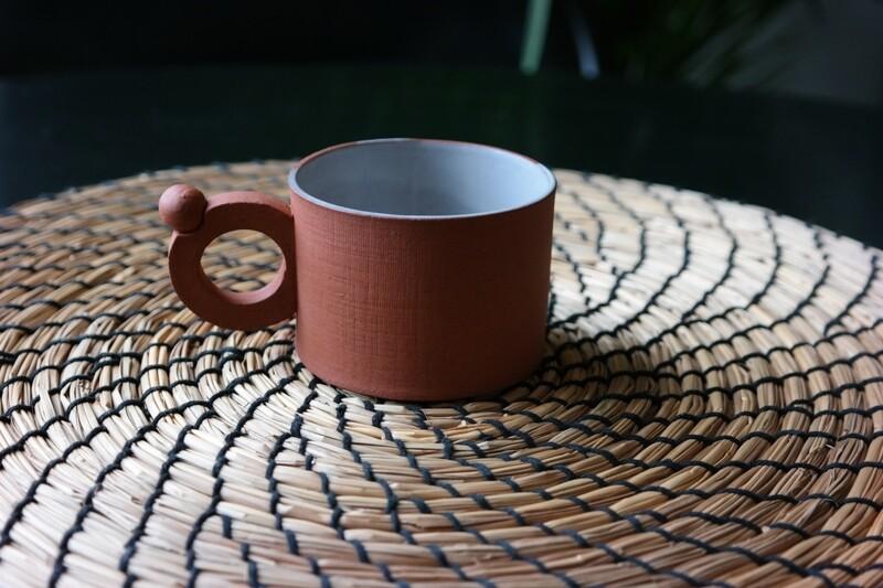 150 ml handmade terracotta mug , 5 oz small cup