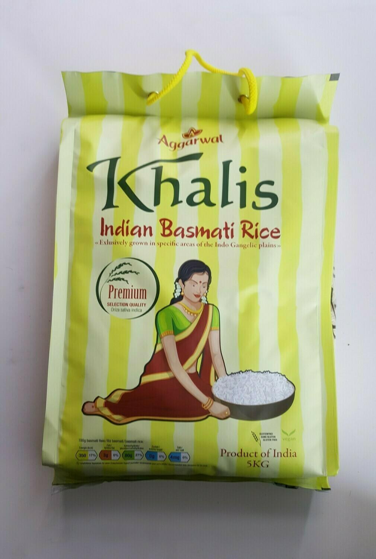 Indian Basmati Rice KHALIS 5Kg