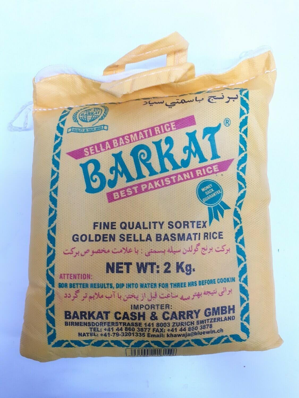 Golden Sella Basmati Rice BARKAT 2Kg