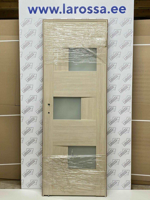 Дверь с коробкой ПВХ 01.20 дуб крема  750*2030 (образец 3)