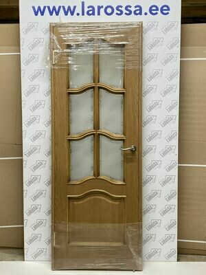Дверь с коробкой шпонированная дуб золотой  750*2030 (образец 7)