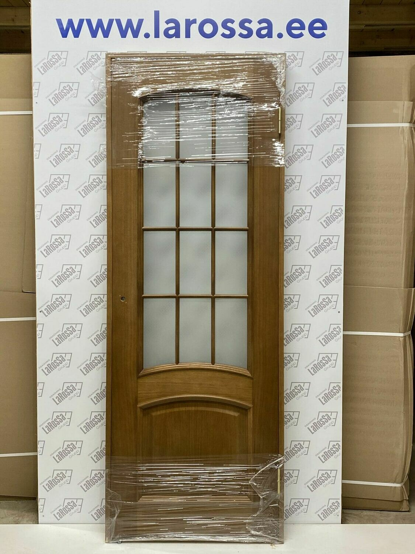 Дверь с коробкой шпонированная орех 750*2030 (образец 8)