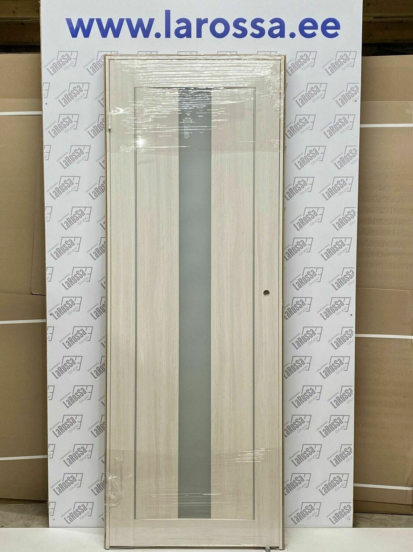 Дверь с коробкой ПВХ 01.13 дуб бианко  750*2030 (образец)