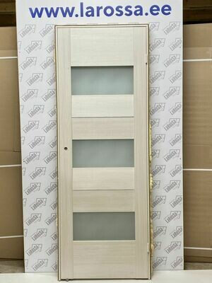 Дверь с коробкой ПВХ 01.09 дуб бианко  750*2030 (образец 12)