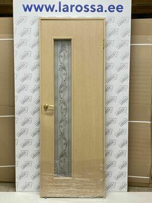 Дверь с коробкой ламинированная c-22 беленый дуб  750*2040 (образец 11)