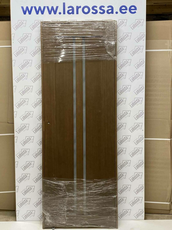 Дверь с коробкой шпонированная орех 750*2030 (образец 16)