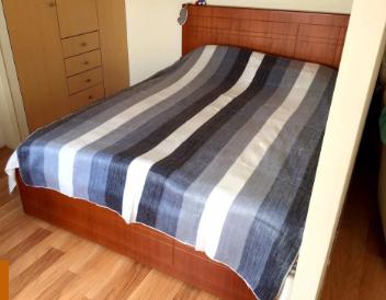 Alpaca Bed Blanket (striped)
