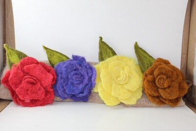 Felted Flower Pins