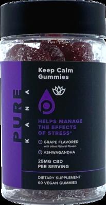 Gummies, 1500 mg, (25 mg/60 ct) broad spectrum, KEEP CALM