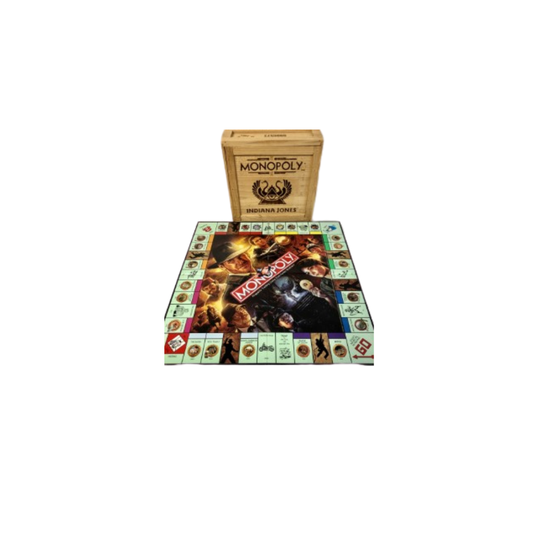 Monopoly Game Indiana Jones Limited Edition in Wooden Crate