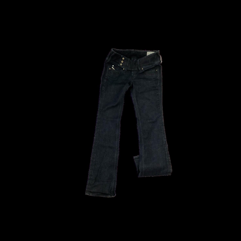 Diesel Women's Cherock 00AA8 Stretch Boot Cut Jeans Trouser Top Dark Blue Wash Made in Italy Women's 28