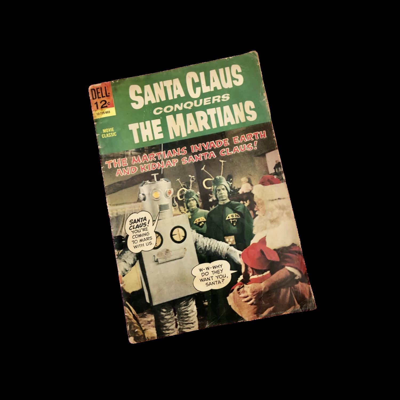 """Collectible 1966 Dell Comics """"Santa Claus Conquers The Martians"""" Very Rare"""