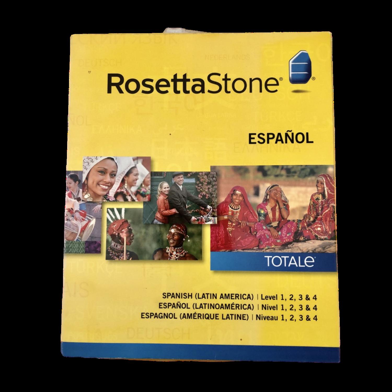 Rossetta Stone Spanish Version 4 with 4 Spanish Levels