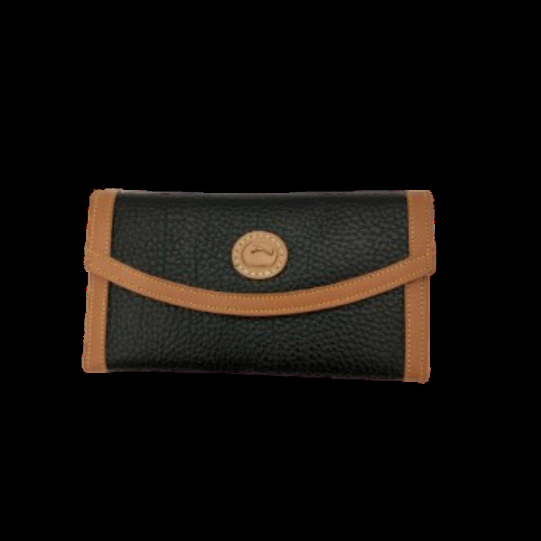 Dooney & Bourke Vintage Black and Tan Trifold Women's Wallet